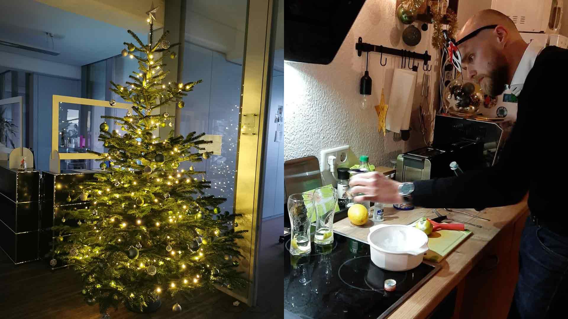 Weihnachtsbaum und Cocktail Kreation